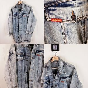 Vintage Jordache acid wash denim jacket coat